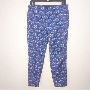 J.crew blue floral pants